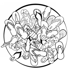 Flipheap vector image