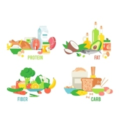 Food sources set vector