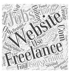 Freelancewriting Jobs Word Cloud Concept vector image