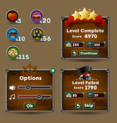 game interface vector image