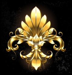 Golden fleur de lis vector