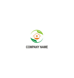 green house ecology logo vector image