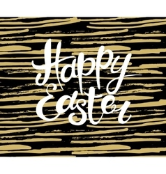 Happy Easter lettering Typographical Background vector