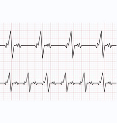 Heartbeats cardiogram ecg heart line vector