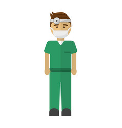 Hospital doctor icon image vector