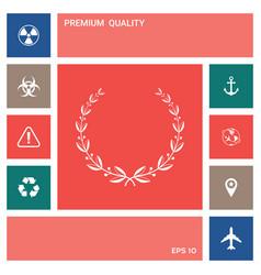 laurel wreath symbol elements for your design vector image