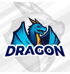 LDragon sport mascot Football or baseball vector