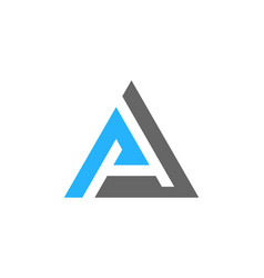 letter a logo icon design vector image