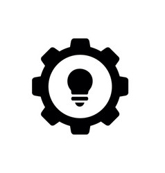 lightbulb combined with gear design vector image