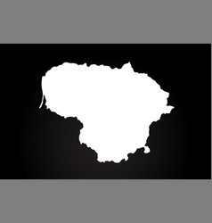 Lithuania black and white country border map logo vector