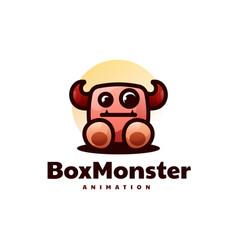 Logo monster mascot cartoon style vector
