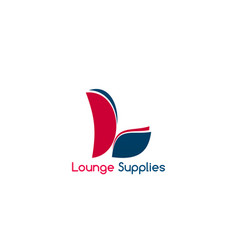 lounge supplies sign vector image