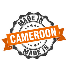 Made in cameroon round seal vector