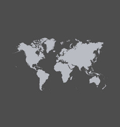 map of the world the gray silhouette vector image