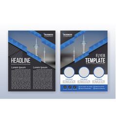 Modern business flyer template annual report vector