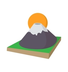 Mount fuji icon cartoon style vector