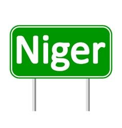 Niger road sign vector