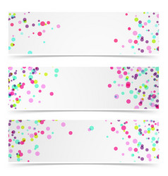 Paint brush splatter merry bright cards set vector
