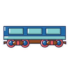 passenger carriage icon cartoon style vector image