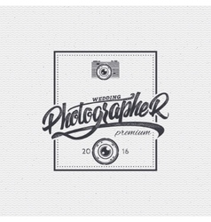 Photographer badge insignia for any use such as vector image