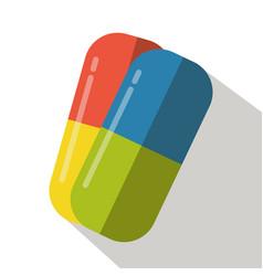pills flat icon chemistry tablet plastic medicine vector image
