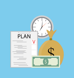 Plan finance vector