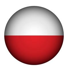 Poland flag button vector image