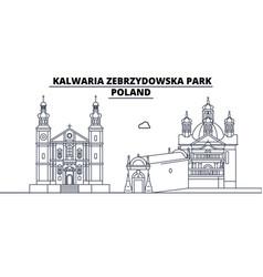 Poland - kalwaria zebrzydowska park travel famous vector
