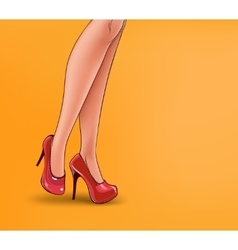 pop art of female legs vector image