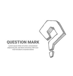 question mark sketch interrogative symbol ask vector image