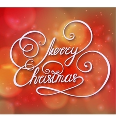 Red Winter Merry Christmas greeting card or vector