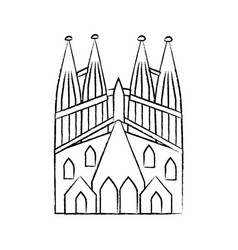 Sagrada familia church icon image vector