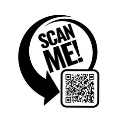 Scan me icon vector