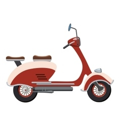 Scooter motorbike icon cartoon style vector