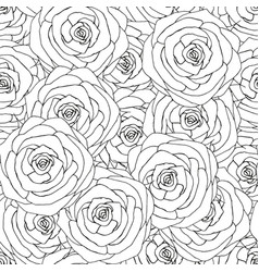 Seamless pattern made from pink roses hand drawn vector