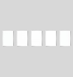 set a4 paper notebook or book page vector image