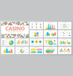 set gambling and casino elements vector image