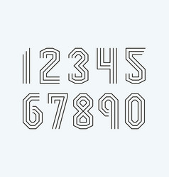 Set numbers line style vector