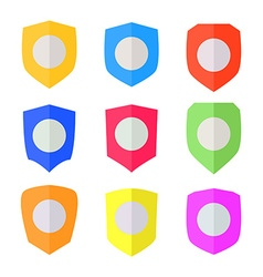 Set of Flat design Shields vector image