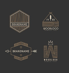 Set of Hipster Vintage Labels or Logotypes with vector
