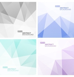 Set of light colorful geometric backgrounds vector