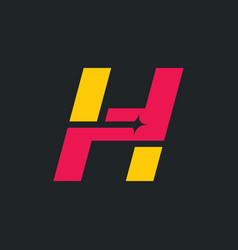 sign letter h vector image