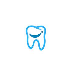 Smile dental logo icon design vector