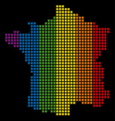 spectrum pixel lgbt france map vector image