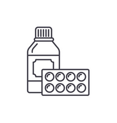 sport supplements line icon concept sport vector image