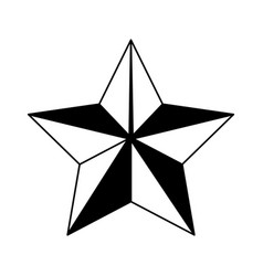 Star emblem isolated icon vector