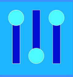 Switchers icon on light blue background vector