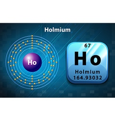 Symbol and electron diagram for Holmium vector