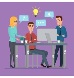 Teamwork office idea Business People Meeting vector