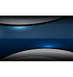 Template dark blue background vector